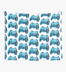 Blue Xbox Controller Wall Tapestry