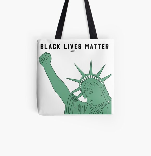 Lady Liberty Black Lives Matter All Over Print Tote Bag