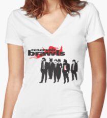Reservoir Brawls Women's Fitted V-Neck T-Shirt