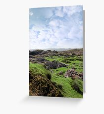 ruin in irish rocky landscape Greeting Card
