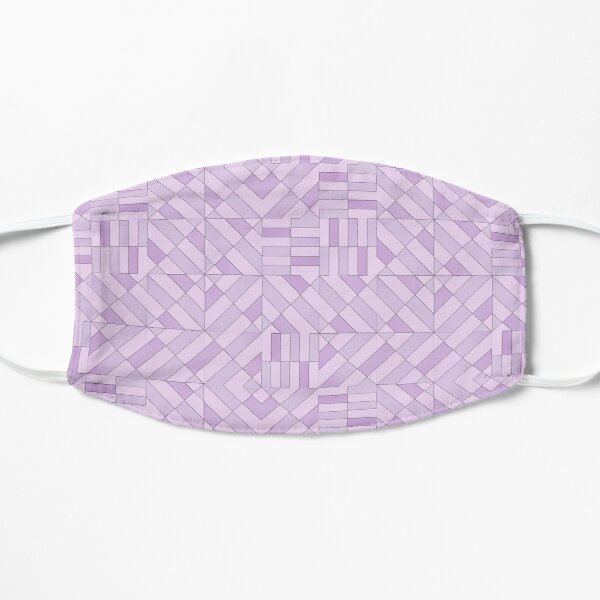 Geometric Shapes Pattern Violet Purple Triangles Squares Mask