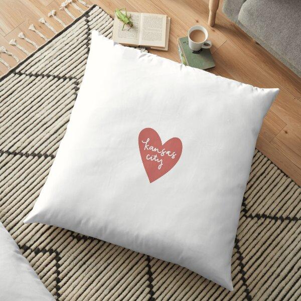 kansas city heart Floor Pillow