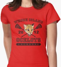 Go Ocelots! (Black Fill) Womens Fitted T-Shirt