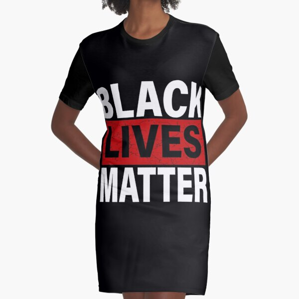 Black Lives Matter T-Shirt With Names Of Victims - BLM  Graphic T-Shirt Dress