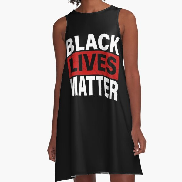 Black Lives Matter T-Shirt With Names Of Victims - BLM  A-Line Dress