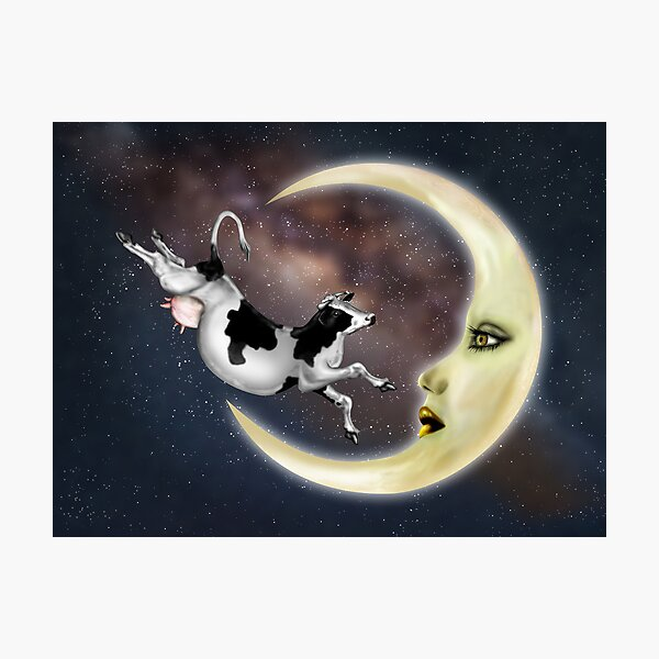 The Cow Jumped Over The Moon Photographic Print