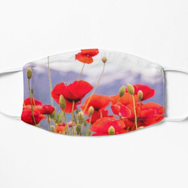 Red Poppy Flowers Flat Mask