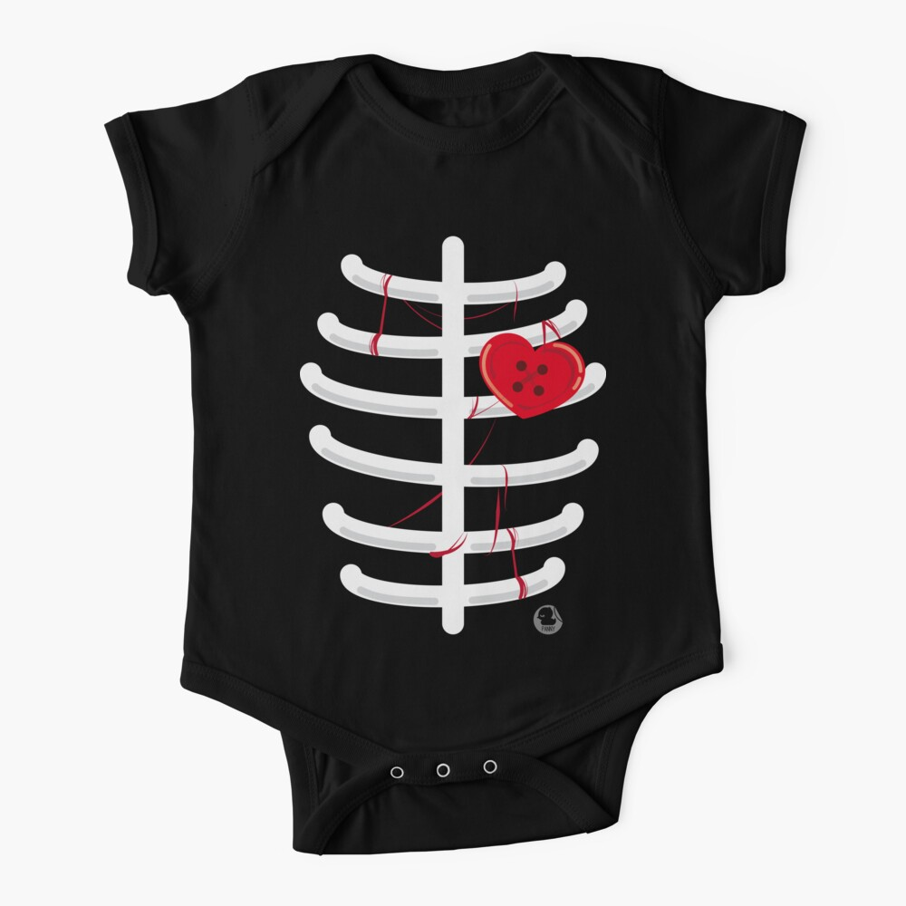 heart.shaped.button Baby One-Piece