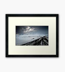 Surrounded By Snow Framed Print