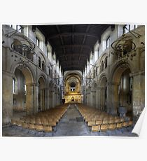 Nave, Rochester Cathedral, Kent, England Poster