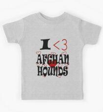 I <3 Afghan Hounds Kids Tee
