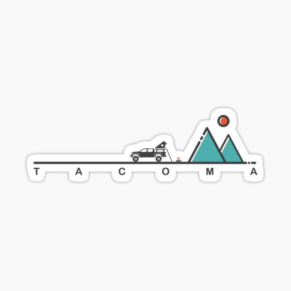 Overland Camping (Toyota Tacoma 2nd Gen) Sticker