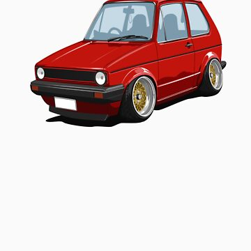 Cartoon MK1 Golf by Lowcorsa