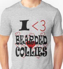 I <3 Bearded Collies T-Shirt