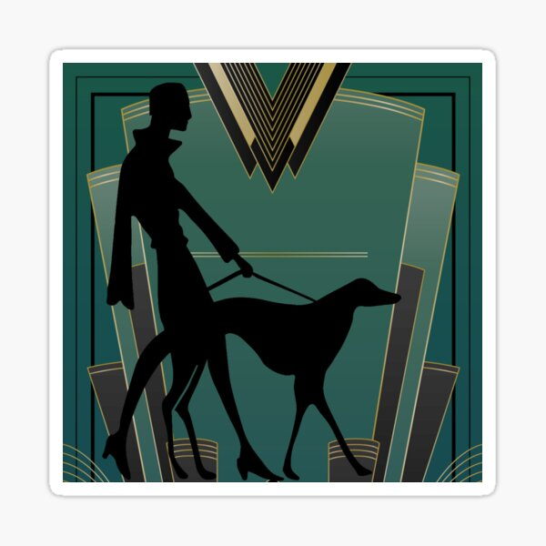 Art Deco Icon Sticker