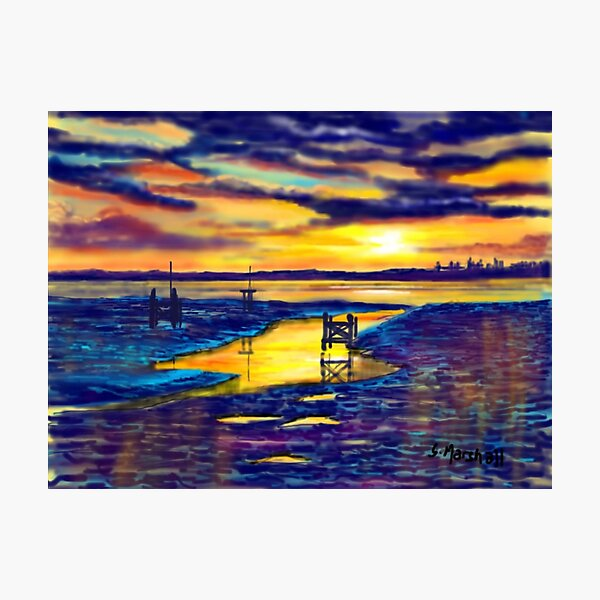 Sunset over the Humber Estuary Photographic Print