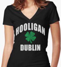 Dublin Hooligan Women's Fitted V-Neck T-Shirt
