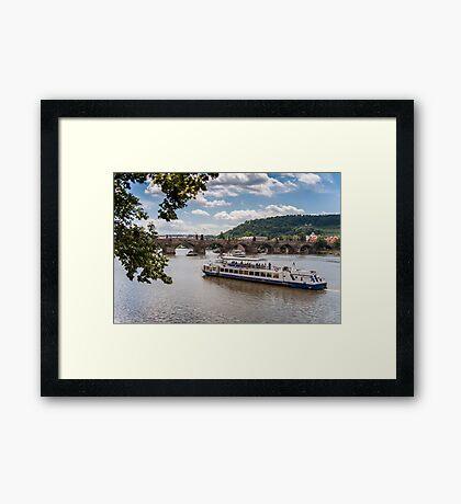 Praha: The Danube Framed Print