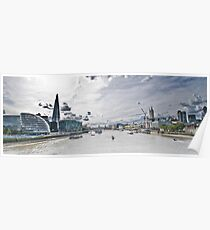 HDR Image of the River Themes form London Bridge  Poster