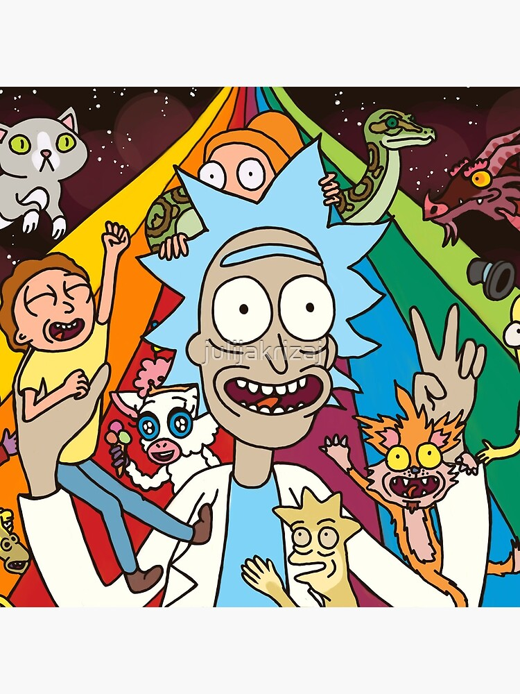 Rick and Morty Rainbow Road by julijakrizaj