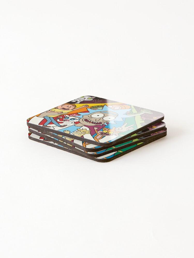 Alternate view of Rick and Morty Rainbow Road Coasters (Set of 4)