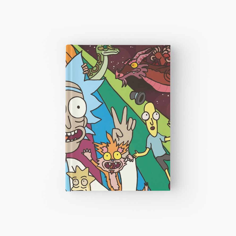 Rick and Morty Rainbow Road Hardcover Journal
