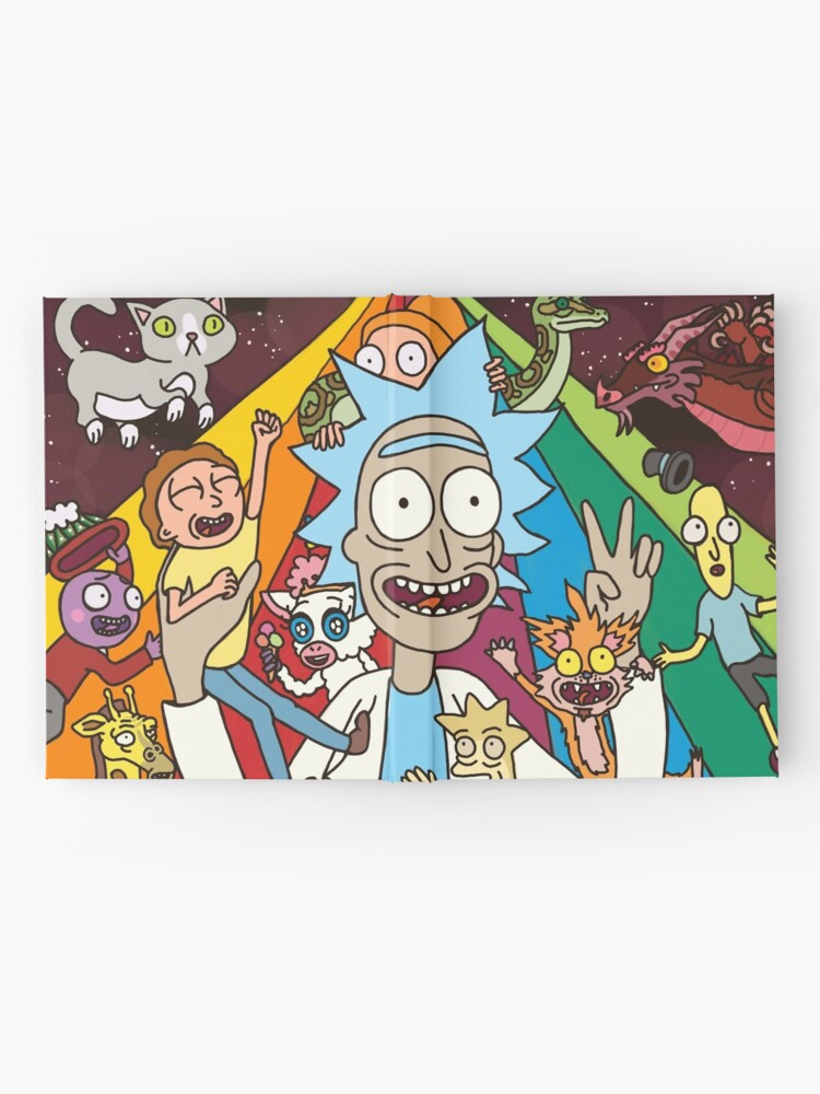 Alternate view of Rick and Morty Rainbow Road Hardcover Journal