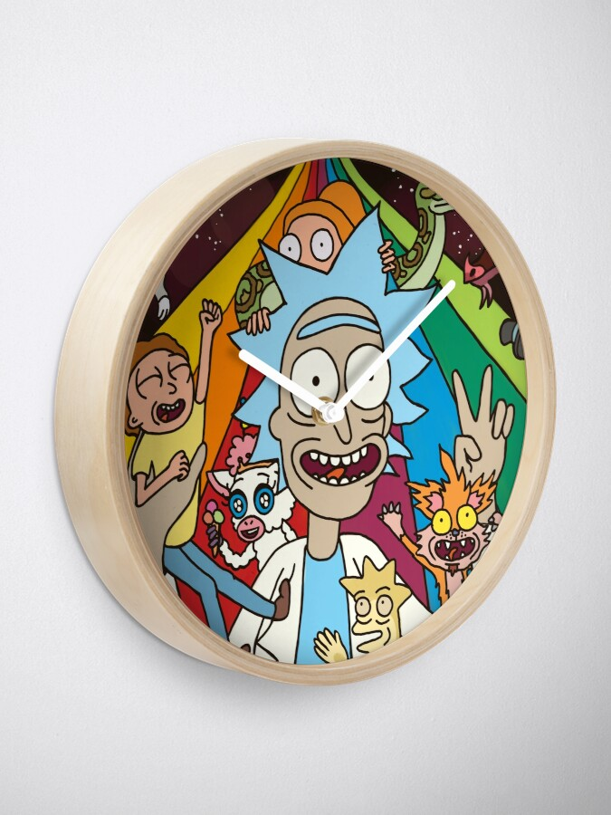 Alternate view of Rick and Morty Rainbow Road Clock