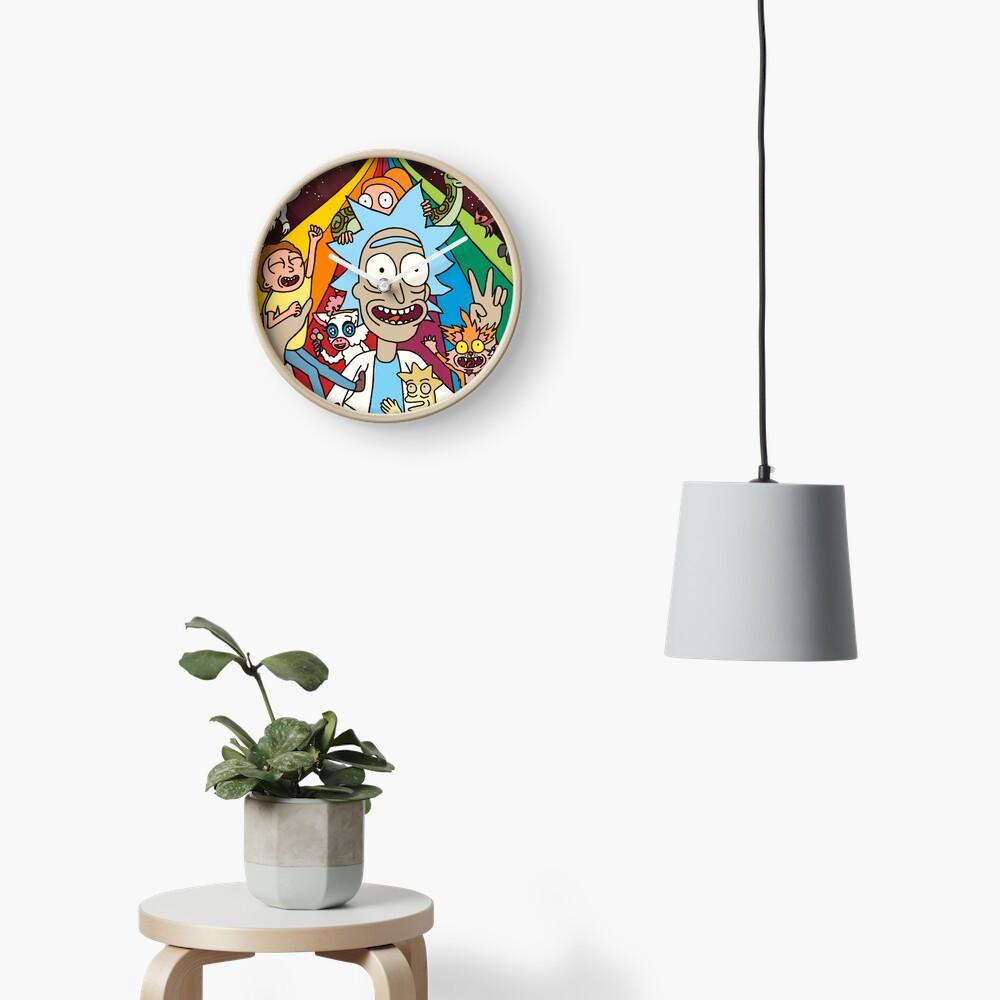 Rick and Morty Rainbow Road Clock
