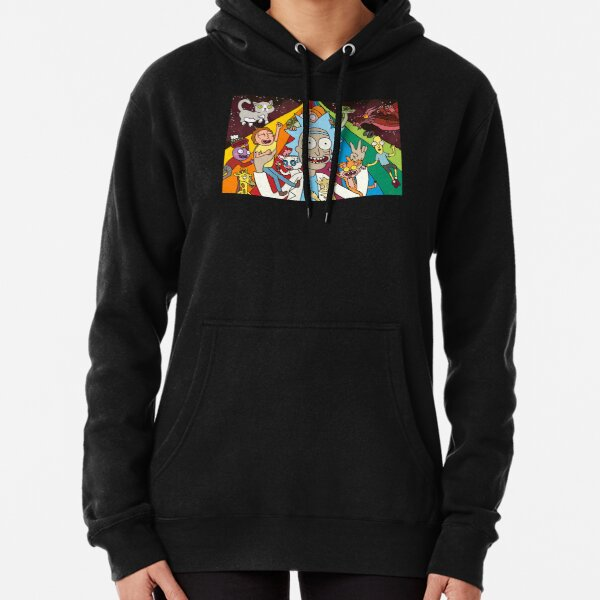 Rick and Morty Rainbow Road Pullover Hoodie