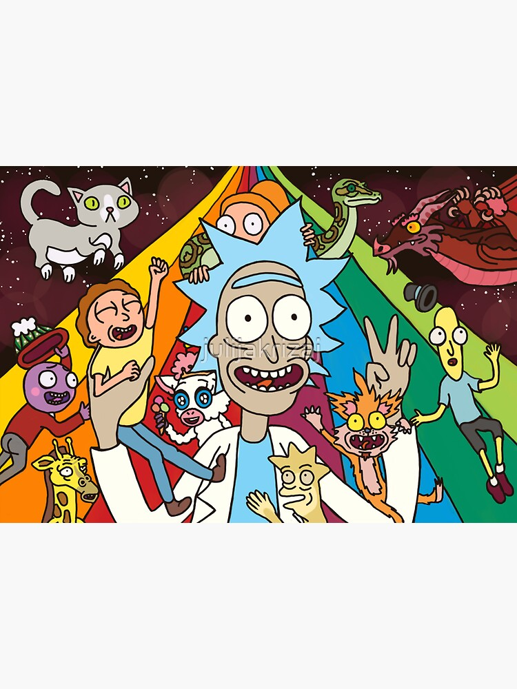 Rick and Morty Rainbow Road by julijakrizaj