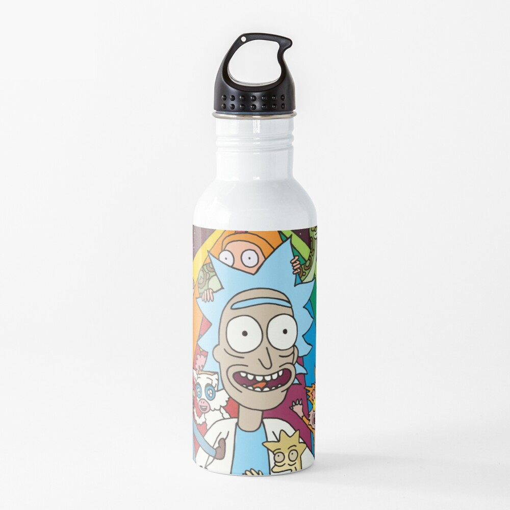 Rick and Morty Rainbow Road Water Bottle