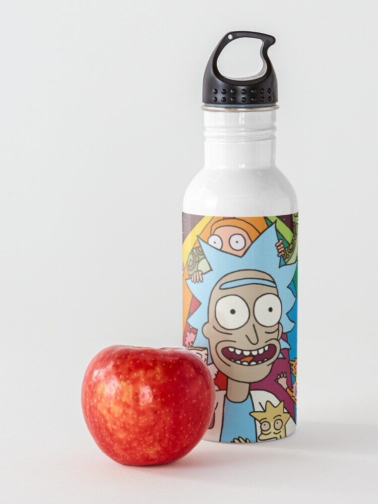 Alternate view of Rick and Morty Rainbow Road Water Bottle