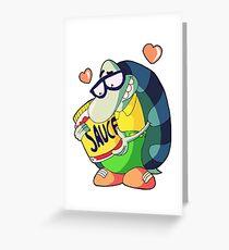I love my sauce Greeting Card