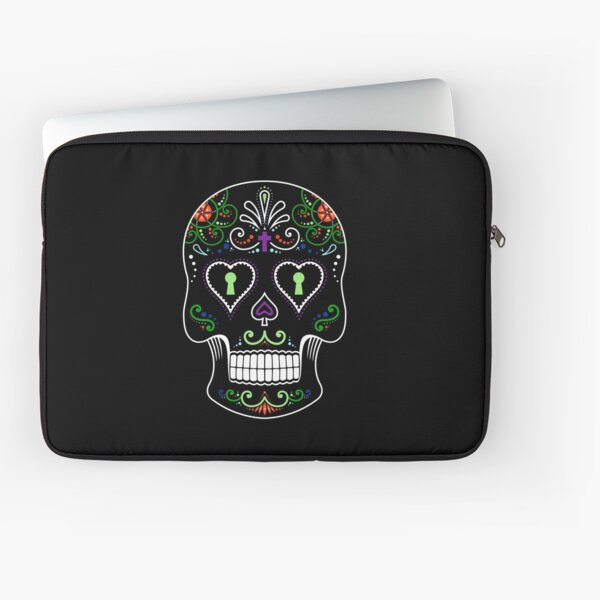 Mexican Calavera Skull Color - Day of the Dead Laptop Sleeve