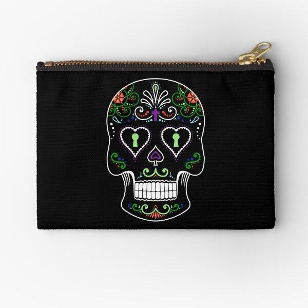 Mexican Calavera Skull Color - Day of the Dead Zipper Pouch