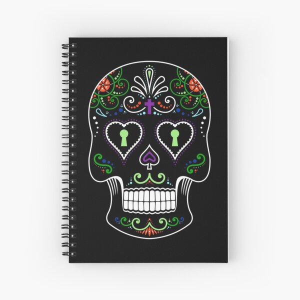 Mexican Calavera Skull Color - Day of the Dead Spiral Notebook