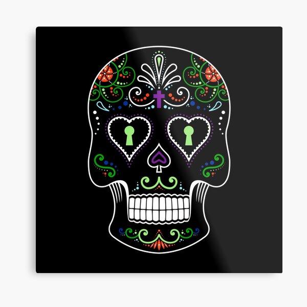 Mexican Calavera Skull Color - Day of the Dead Metal Print