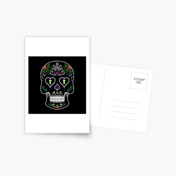 Mexican Calavera Skull Color - Day of the Dead Postcard