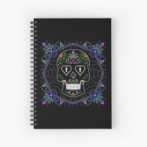 Mexican Calavera Skull Mandala - Day of the Dead Spiral Notebook