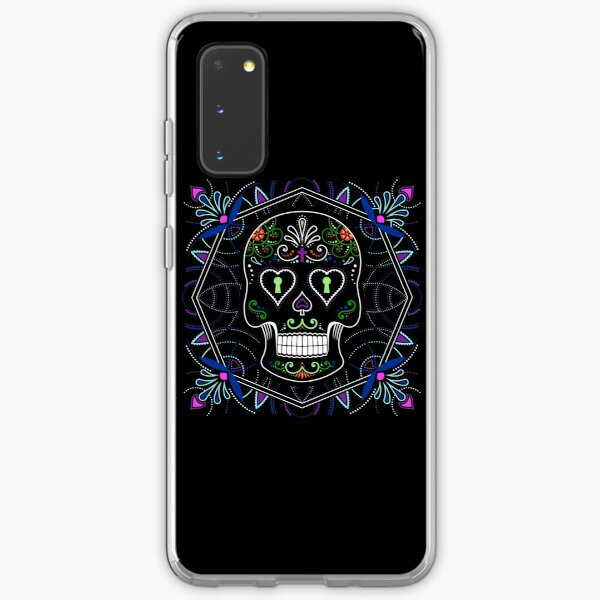 Mexican Calavera Skull Mandala - Day of the Dead Samsung Galaxy Soft Case