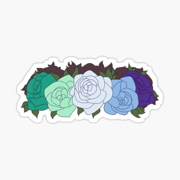 MLM Pride Flower Crown Sticker