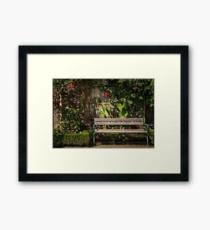 Salzburg: The Bench Framed Print