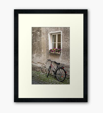 Passau: The Bicycle Framed Print