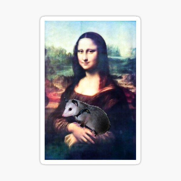 Mona Lisa with Possum Sticker