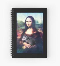 Mona Lisa with Possum Spiral Notebook