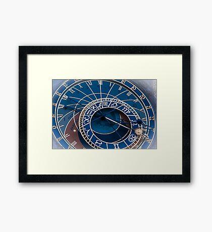 Praha: The Astronomical Clock Framed Print