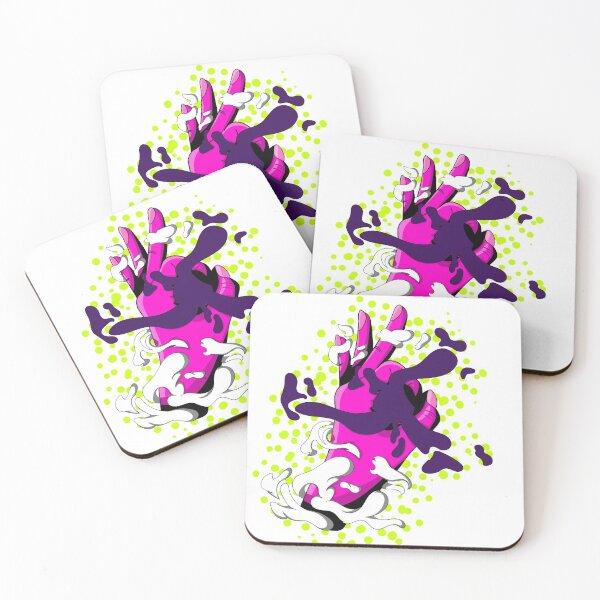 Blackhole Hand Illustration Coasters (Set of 4)