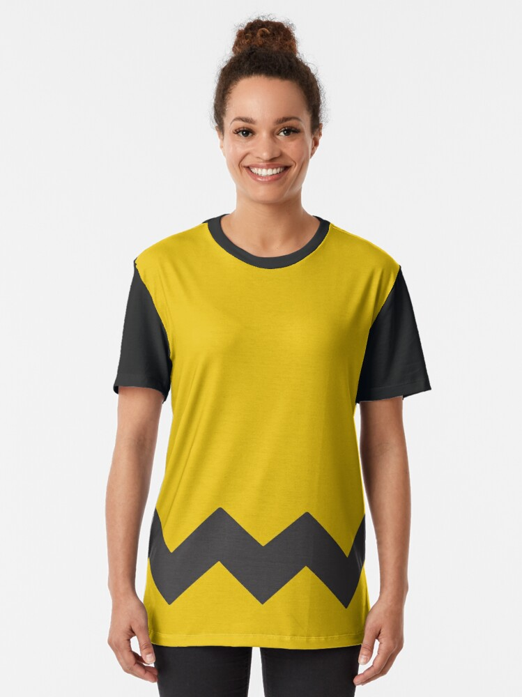 Alternate view of Charlie Brown Shirt Graphic T-Shirt