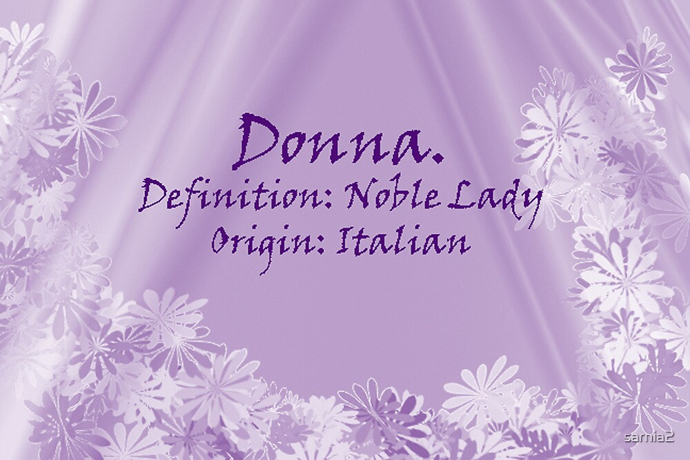 By Definition:  Donna by sarnia2